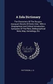 A Zola Dictionary by Patterson J G image