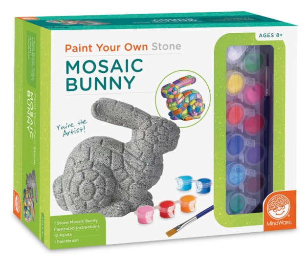 Mindware Create: Paint Your Own Stone - Mosaic Bunny