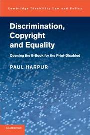 Cambridge Disability Law and Policy Series by Paul Harpur