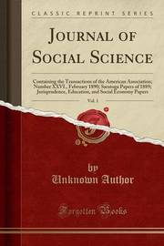 Journal of Social Science, Vol. 1 by Unknown Author