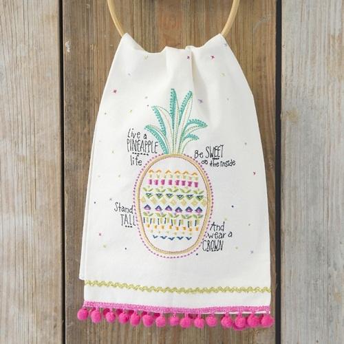 Natural Life: Linen Tea Towel - Pineapple Life
