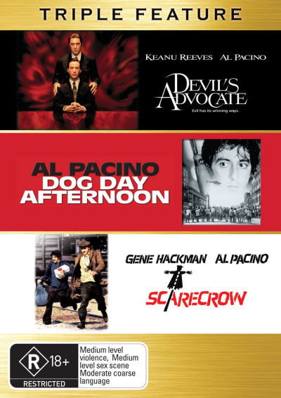 Triple Feature - Devil's Advocate / Dog Day Afternoon / Scarecrow on DVD