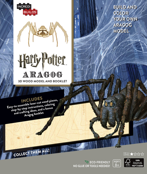 IncrediBuilds: Harry Potter 3D Wood Model and Booklet - Aragog