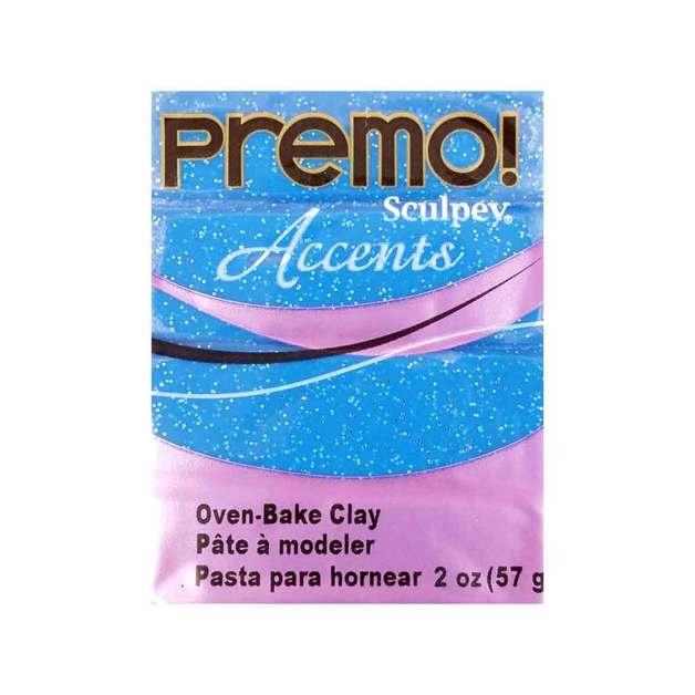 Sculpey Premo Accent Blue Glitter (57g)