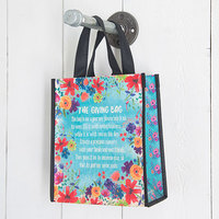 Natural Life: Gift Bag - Giving Bag Blue Floral (Medium)