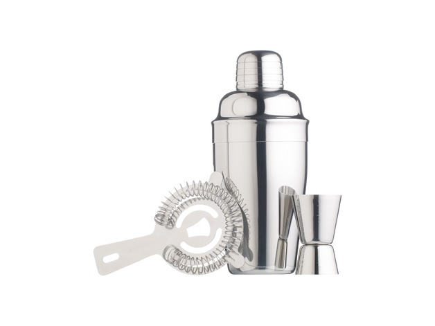BarCraft: Cocktail Kit Stainless Steel - Gift Boxed (3pc)