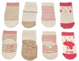 Hi-Hop Babies Bootee Girl's Socks (4 Pack)