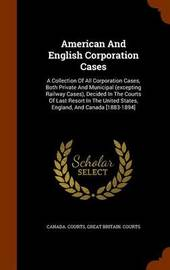 American and English Corporation Cases by Canada Courts image