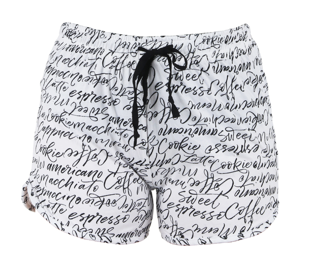 Hello Mello: Cafeology Lounge Shorts - S-M
