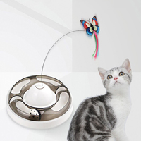 Butterfly Turntable - Interactive Pet Toy (Grey)