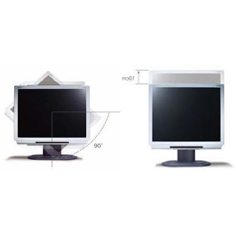 "Acer AL1922R 19"" LCD MONITOR SILVER Rotatable & Height Adjustable & 8ms Response Rate Integrated Stereo Speakers: 1.5W x 2"