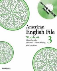 American English File Level 3: Workbook with Multi-ROM Pack by Christina Latham-Koenig image