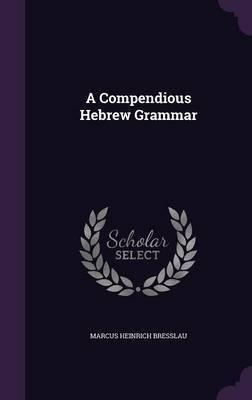 A Compendious Hebrew Grammar by Marcus Heinrich Bresslau image