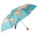 Vintage Map Folding Umbrella