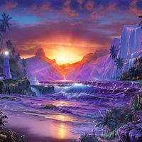 Ravensburger : Sunrise in Paradise Puzzle 1500pc