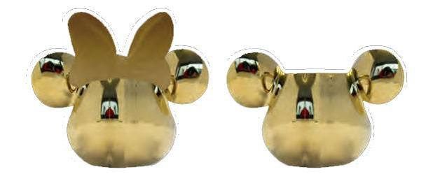 Mickey Mouse Deluxe 3D Salt and Pepper Shaker Gold