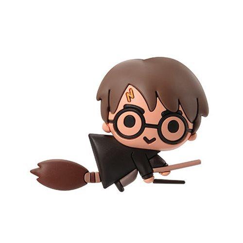 Harry Potter with Broom 3D Foam Magnet