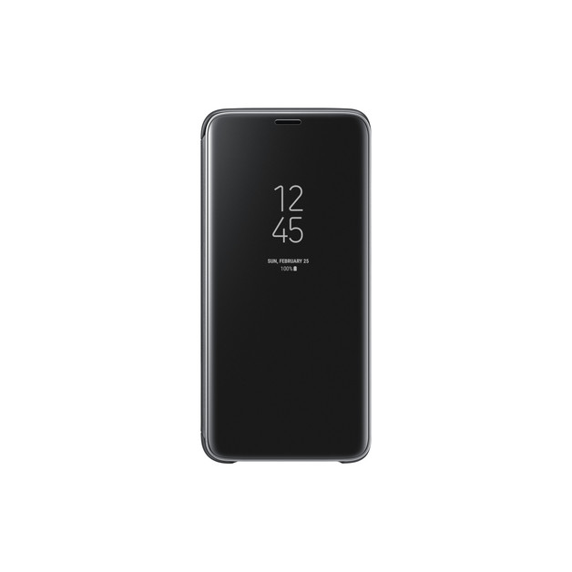 Samsung Galaxy S9 Clear View Standing Flip Cover - Black