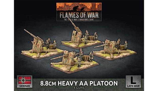 Flames of War: Heavy AA Platoon (x4 Plastic)