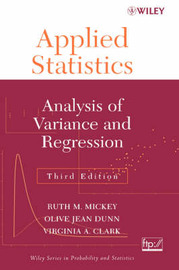 Applied Statistics by Ruth M. Mickey