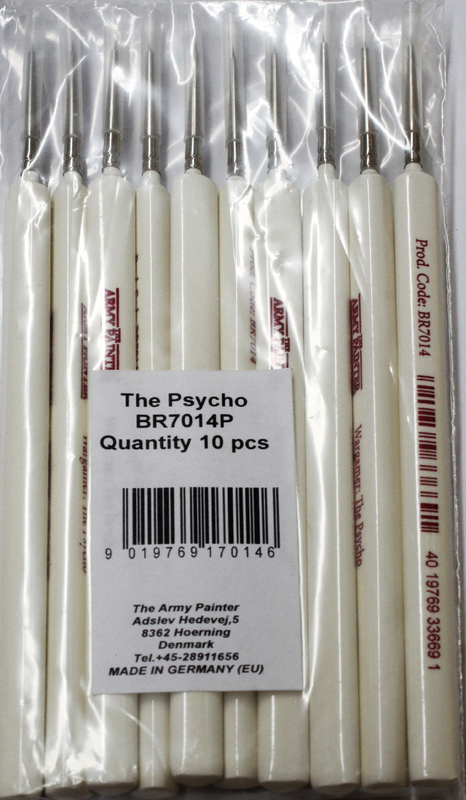 Army Painter Wargamer Series - The Psycho Brush 10 Pack