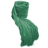 Bambury Cambridge Ruffle Throw Rug (Turquoise)