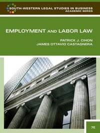 Employment and Labor Law by Patrick J. Cihon image