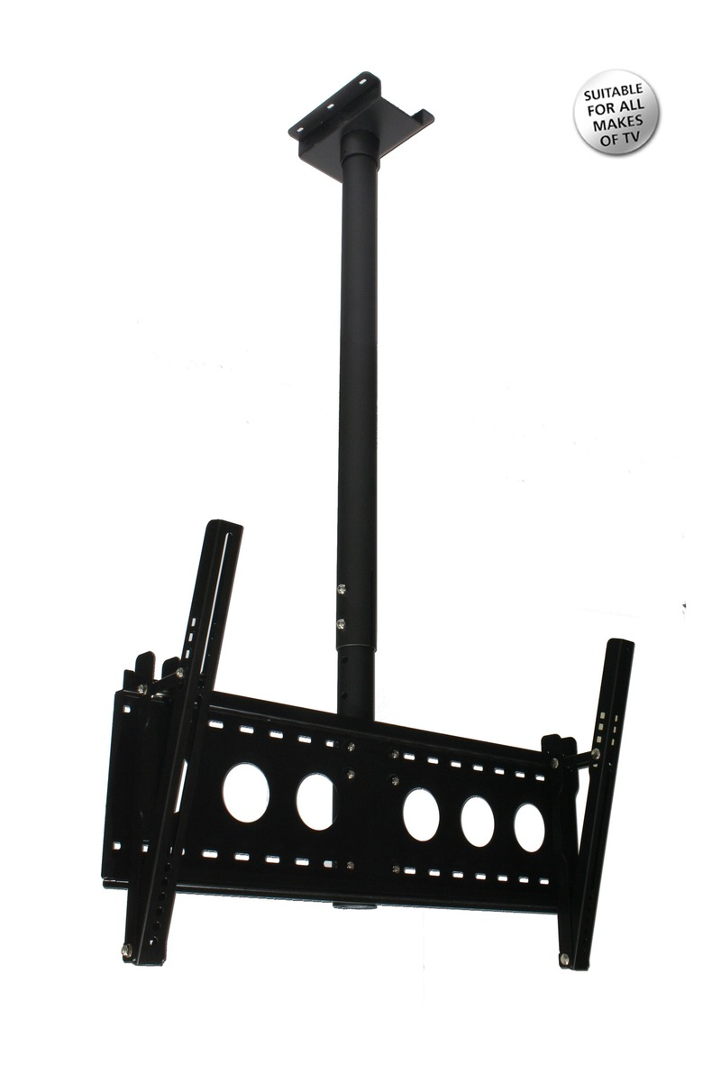 Aavara Flat TV ceiling mount, Tilt and Swivel, Hidden Cables image