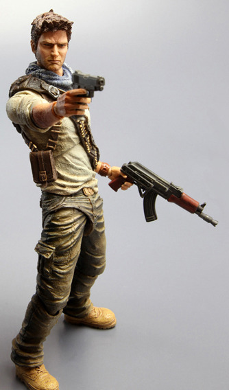 Uncharted 3 Play Arts Kai Action Figure - Nathan Drake images, Image 4 of 7
