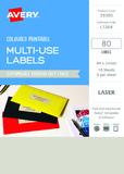 Avery L7264 Multi-Use Labels - Pistachio (10 Sheets/80 Labels)