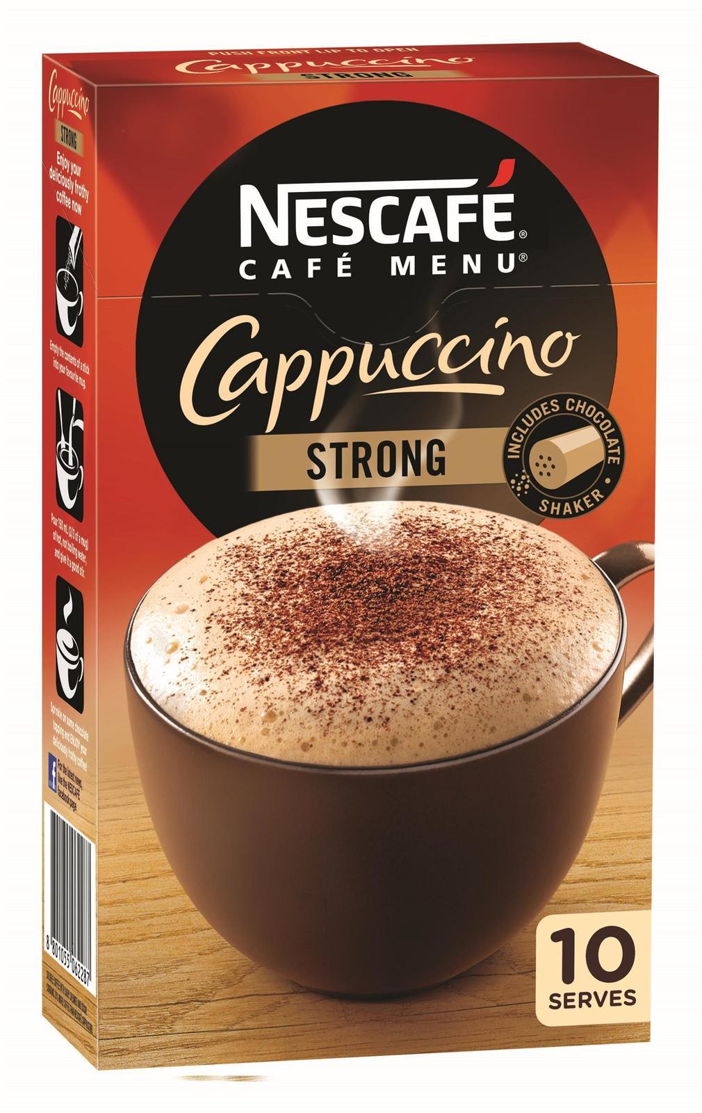 Nescafe Café Menu (Cappucino Strong, 10pk) image