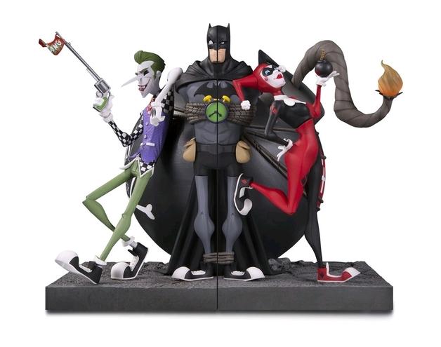 DC Comics: Batman Joker and Harley Bookends Statue