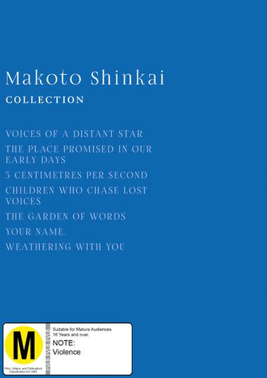 Makoto Shinkai Collection on Blu-ray