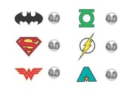 DC Comics: Justice League - Lapel Pin Set