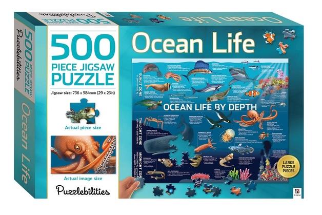 Puzzlebilities: 500 Piece Puzzle - Ocean Life by Depth