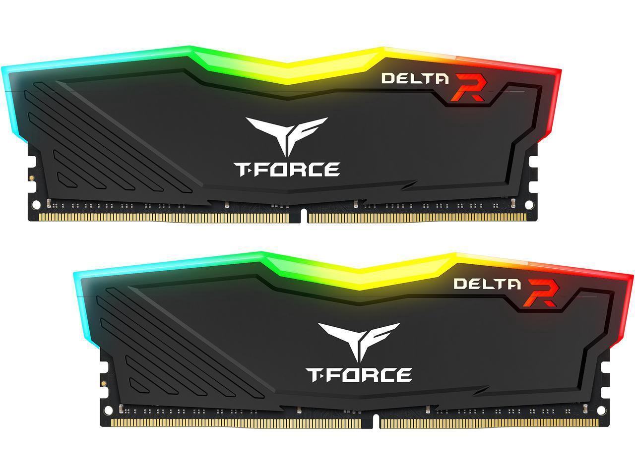 2x8GB Team T-Force Delta II RGB 2666MHz DDR4 Gaming RAM image
