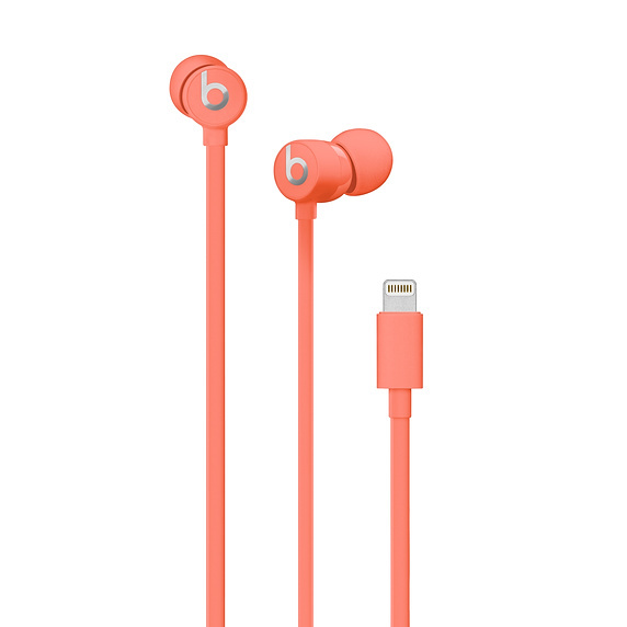 Beats: urBeats3 Earphones with Lightning Connector – Coral