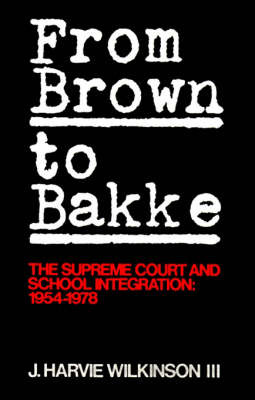 From 'Brown' to 'Bakke' by J.Harvie Wilkinson image
