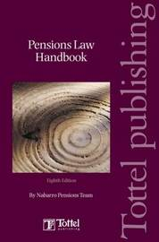 Pensions Law Handbook by Nabarro Nathanson image