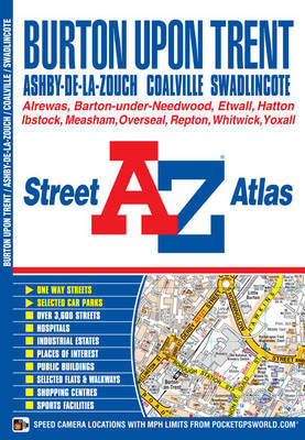 Burton on Trent Street Atlas by Geographers A-Z Map Company image