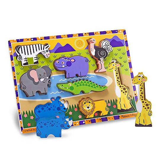 Melissa & Doug: Safari Chunky Puzzle image