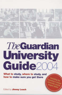 """Guardian"" University Guide by Guardian Books image"