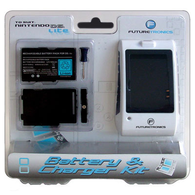 Futuretronics Lite Battery & Charger Kit for Nintendo DS