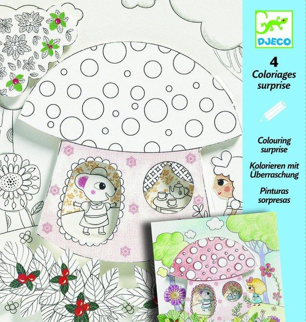 Djeco: Colouring Surprises - Thumbalina