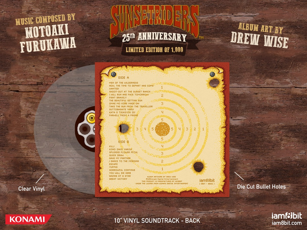 Sunset Riders Soundtrack (LP) by Motoaki Furukawa image