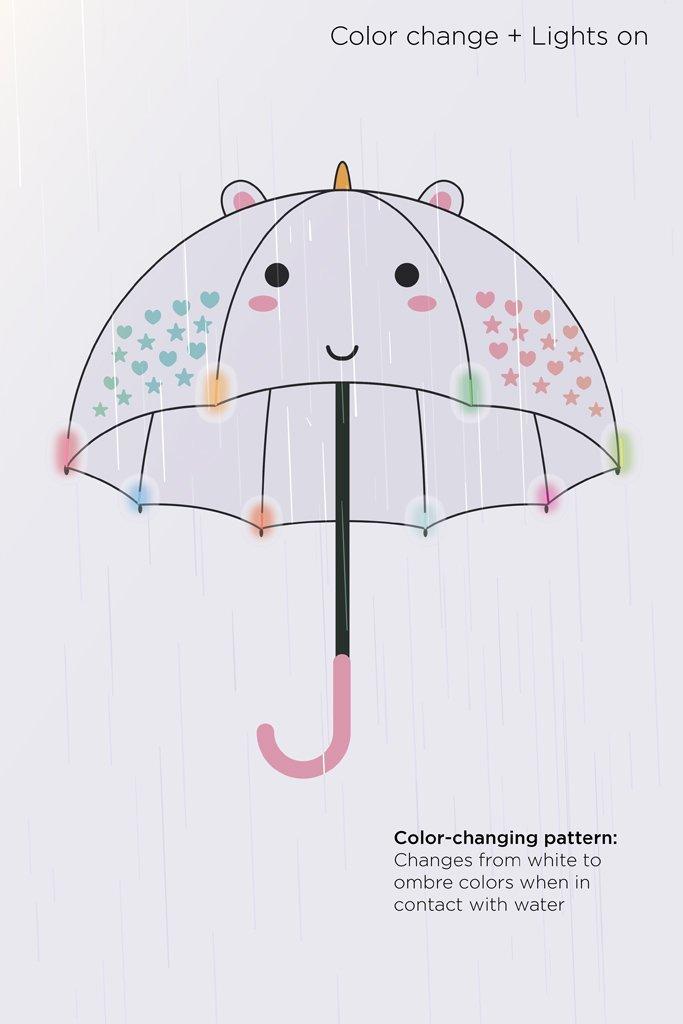 099c6886c ... Smoko: Elodie Unicorn - Colour Changing LED Umbrella image ...