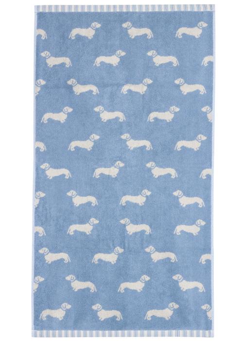 Emily Bond Hand Towel - Blue Dachshunds