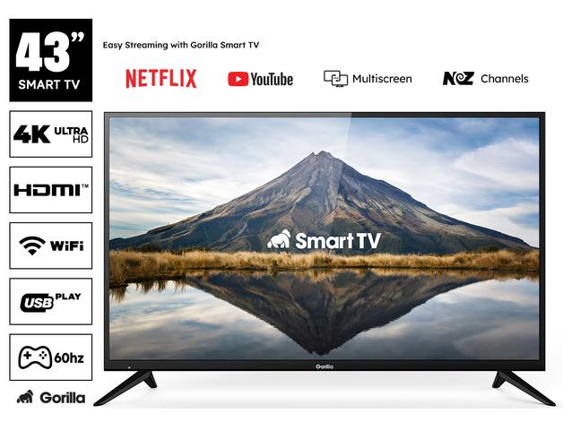 "Gorilla 43"" 4K UHD Smart TV"