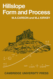 Hillslope Form and Process by M.A. Carson image