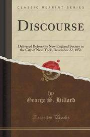 Discourse by George S. Hillard
